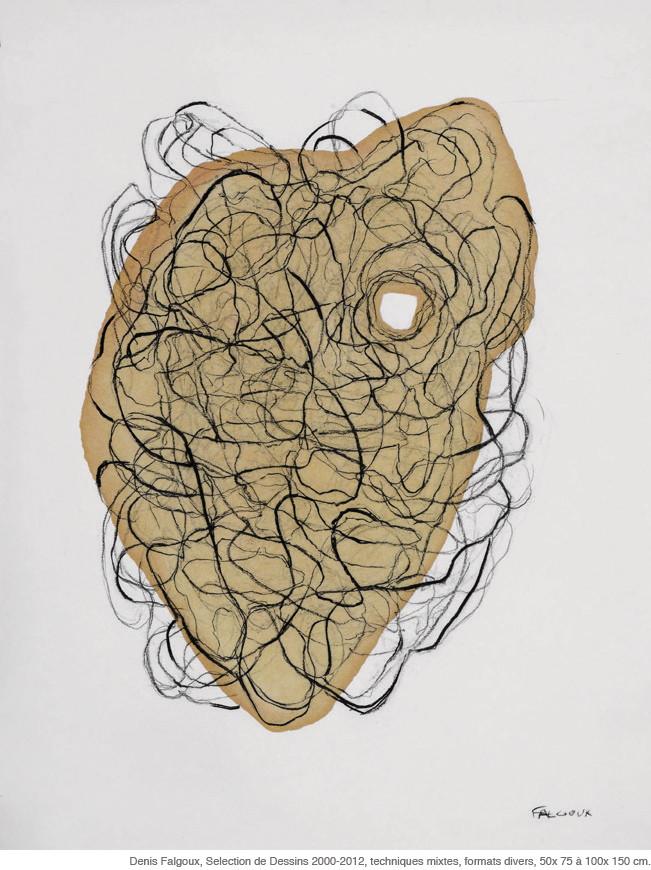 DE QUEL CÔTÉ LA NUIT TOMBE - Dessin, © Denis Falgoux, Musée Roger Quillot, Clermont-Ferrand