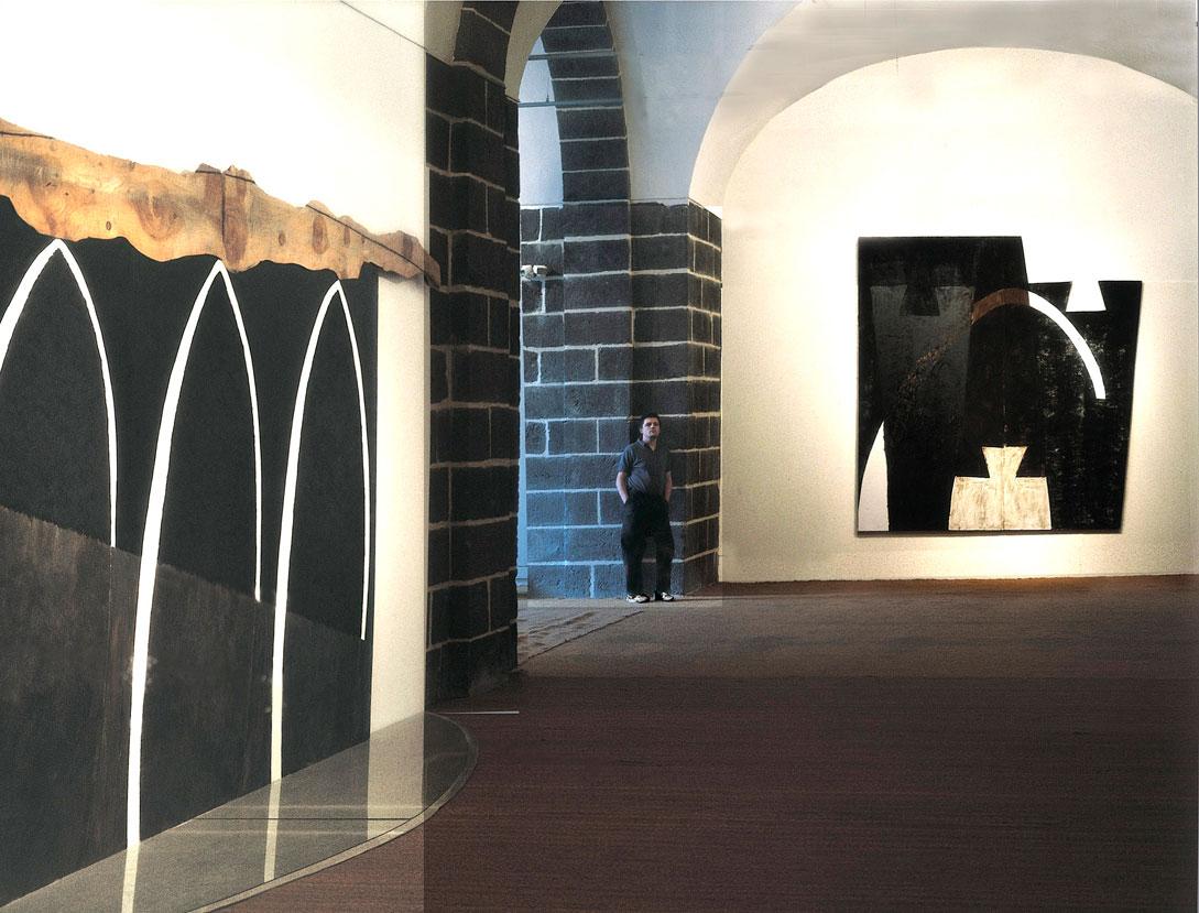Vue exposition FRAC Auvergne - 1987 -