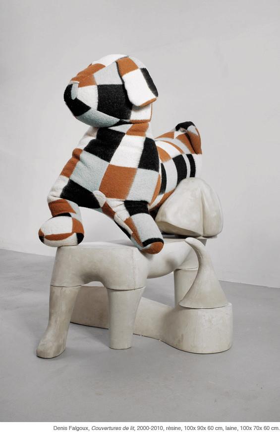COUVERTURES DE LIT - LES PLUS BEAUX MORCEAUX DE L'ANIMAL. Sculptures. Denis Falgoux. 2012