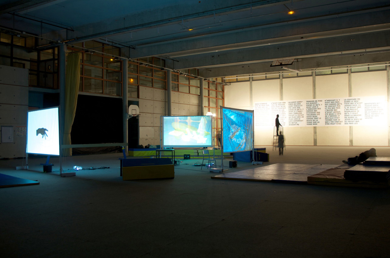 ne - Installation vidéo et textes - © Denis Falgoux