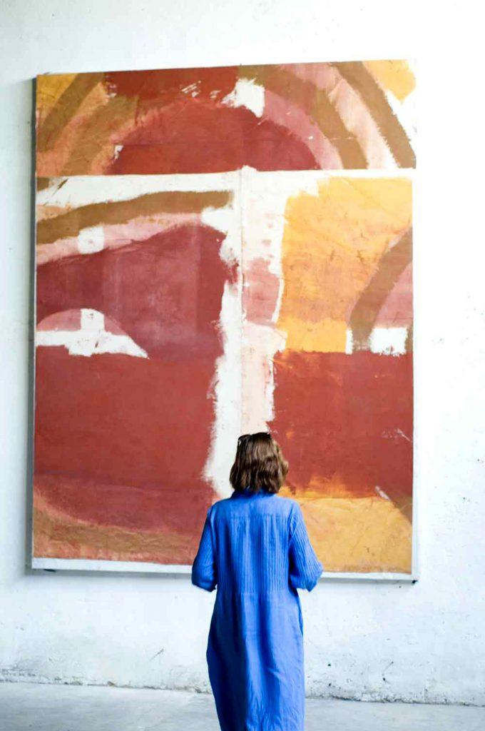Peinture Coupée – Denis Falgoux – 1999, acrylique, toile, marouflée sur toile, 288 x 224 cm.