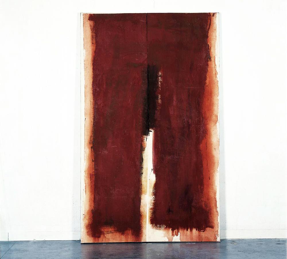 Peinture Coupée – Denis Falgoux – 1999, acrylique, toile, marouflée sur toile, 261 x 158 cm.