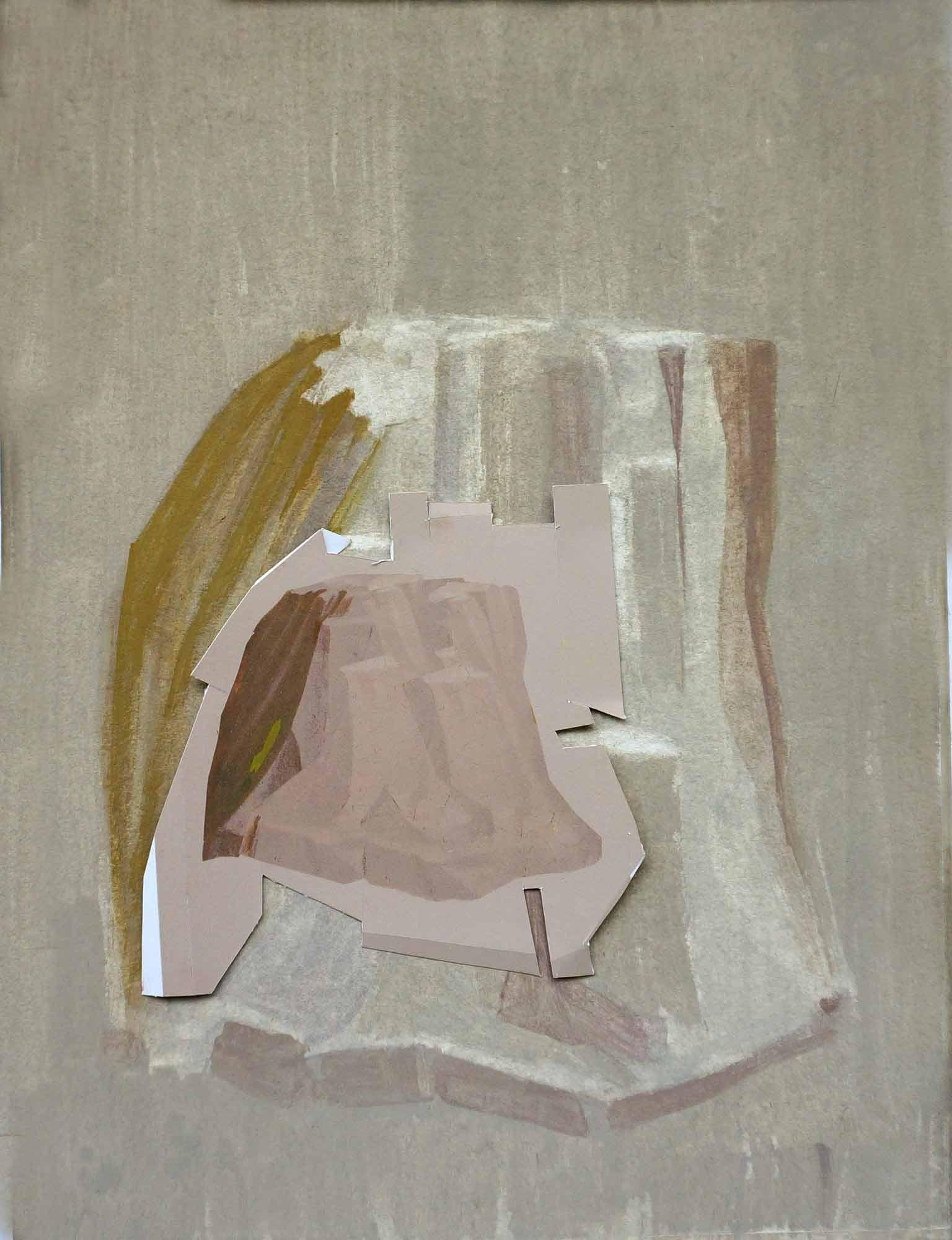 Colline sur sa colline- 2014 - Encre. 40 x 21 cm. Denis Falgoux