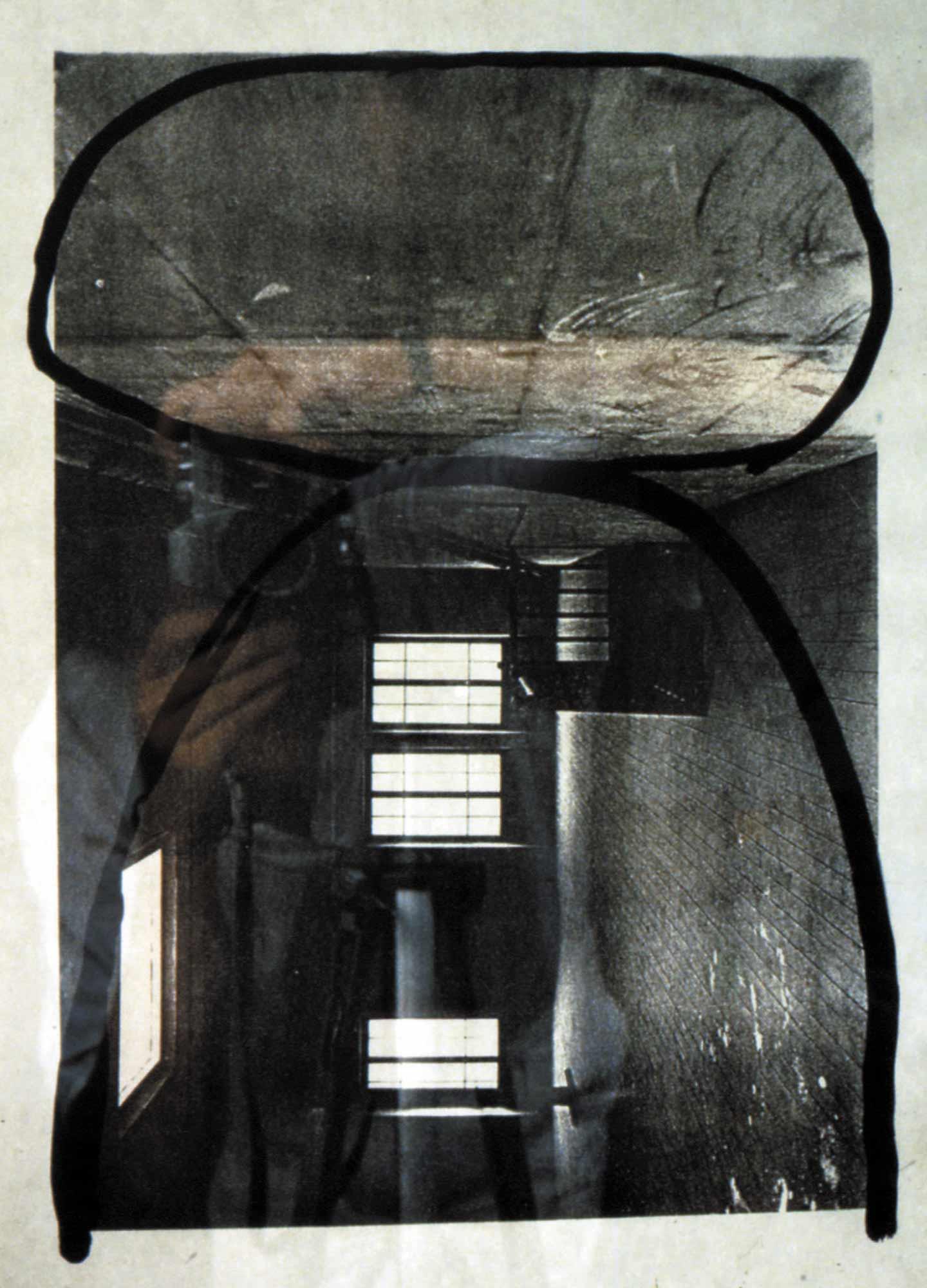 Pierre - 1987 – Encre sur photo papier. 42 x 30 cm. Denis Falgoux