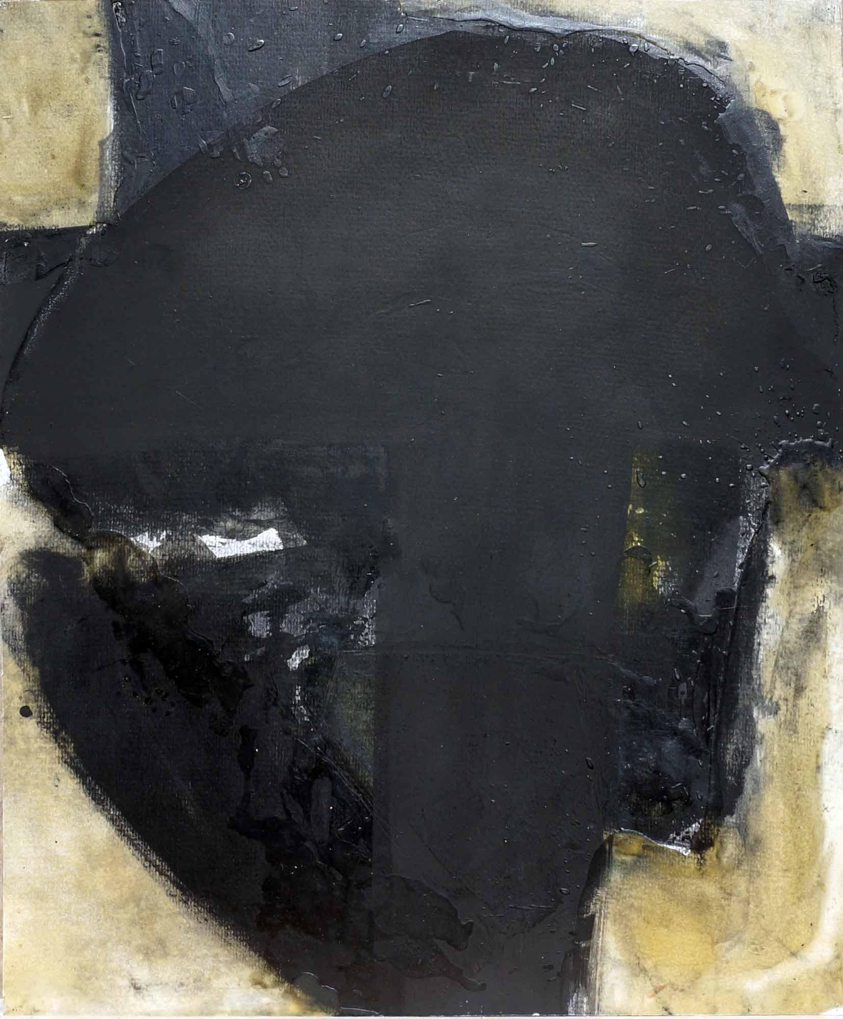 Clef de voute - 1987 – Pigment, cire. 45 x 37 cm. Denis Falgoux.
