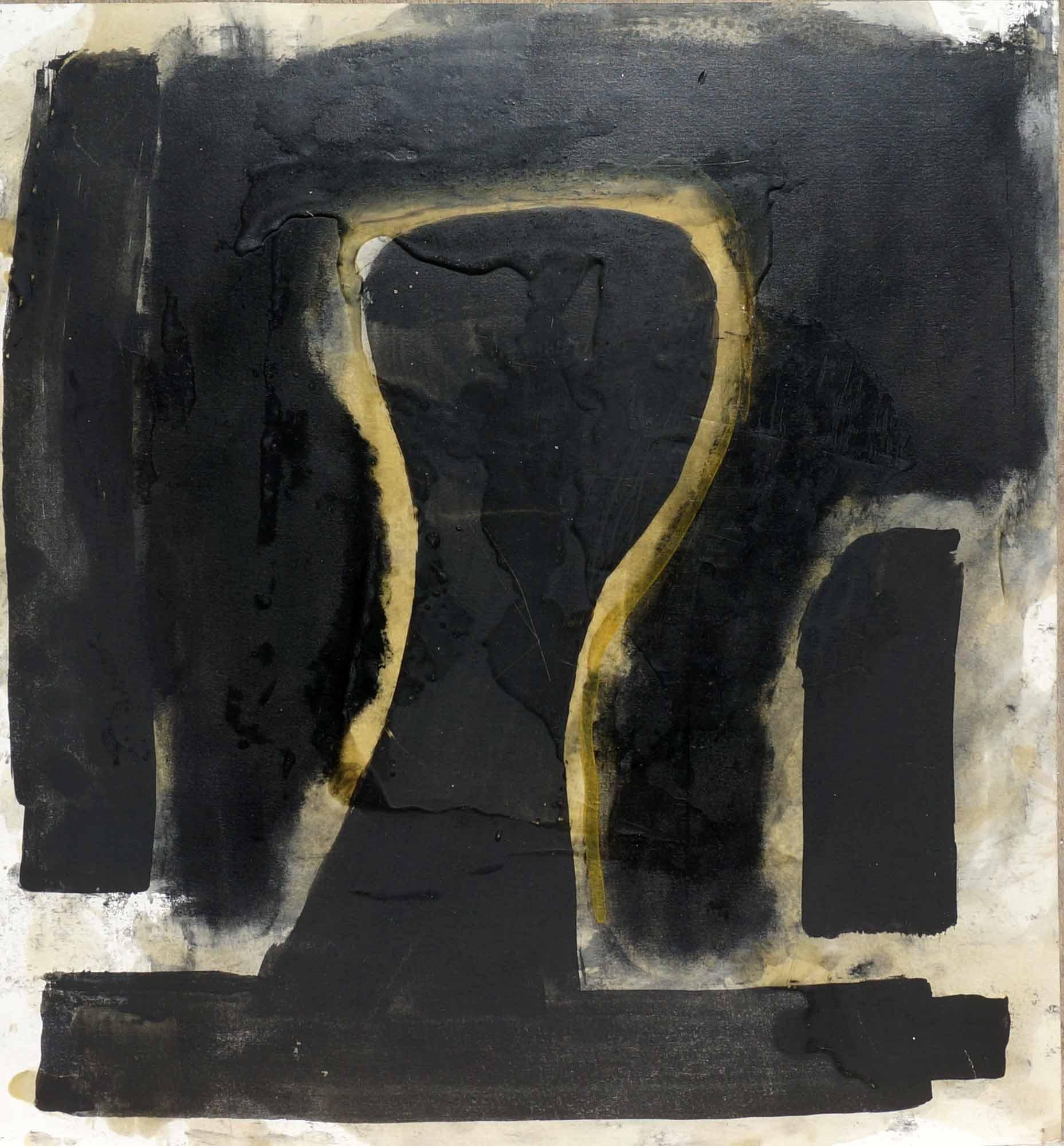 Clef de voute - 1987 – Pigment, cire. 43 x 39 cm. Denis Falgoux.