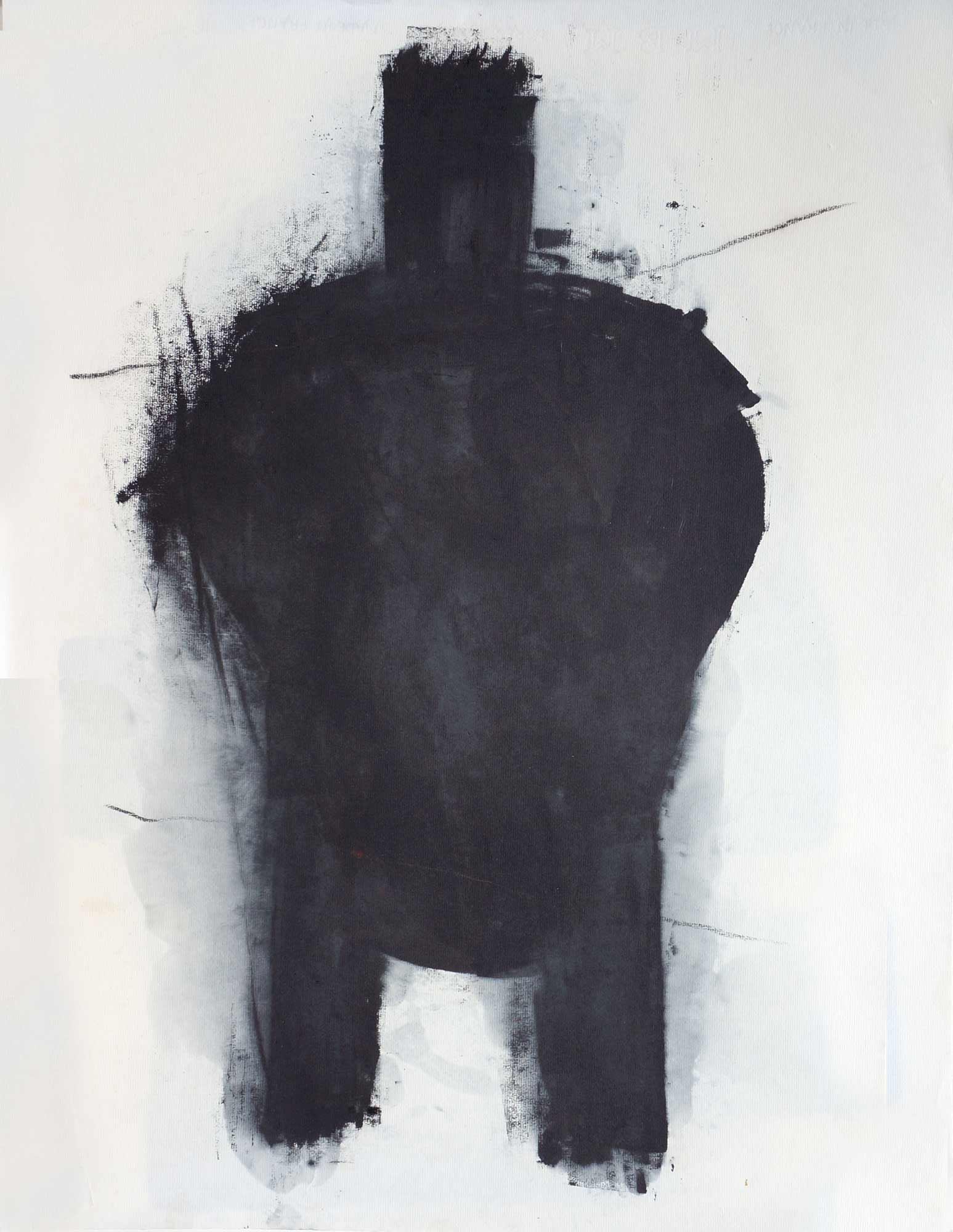 Forme - 1987 – Encre Typographique. 65 x 50 cm. Denis Falgoux.