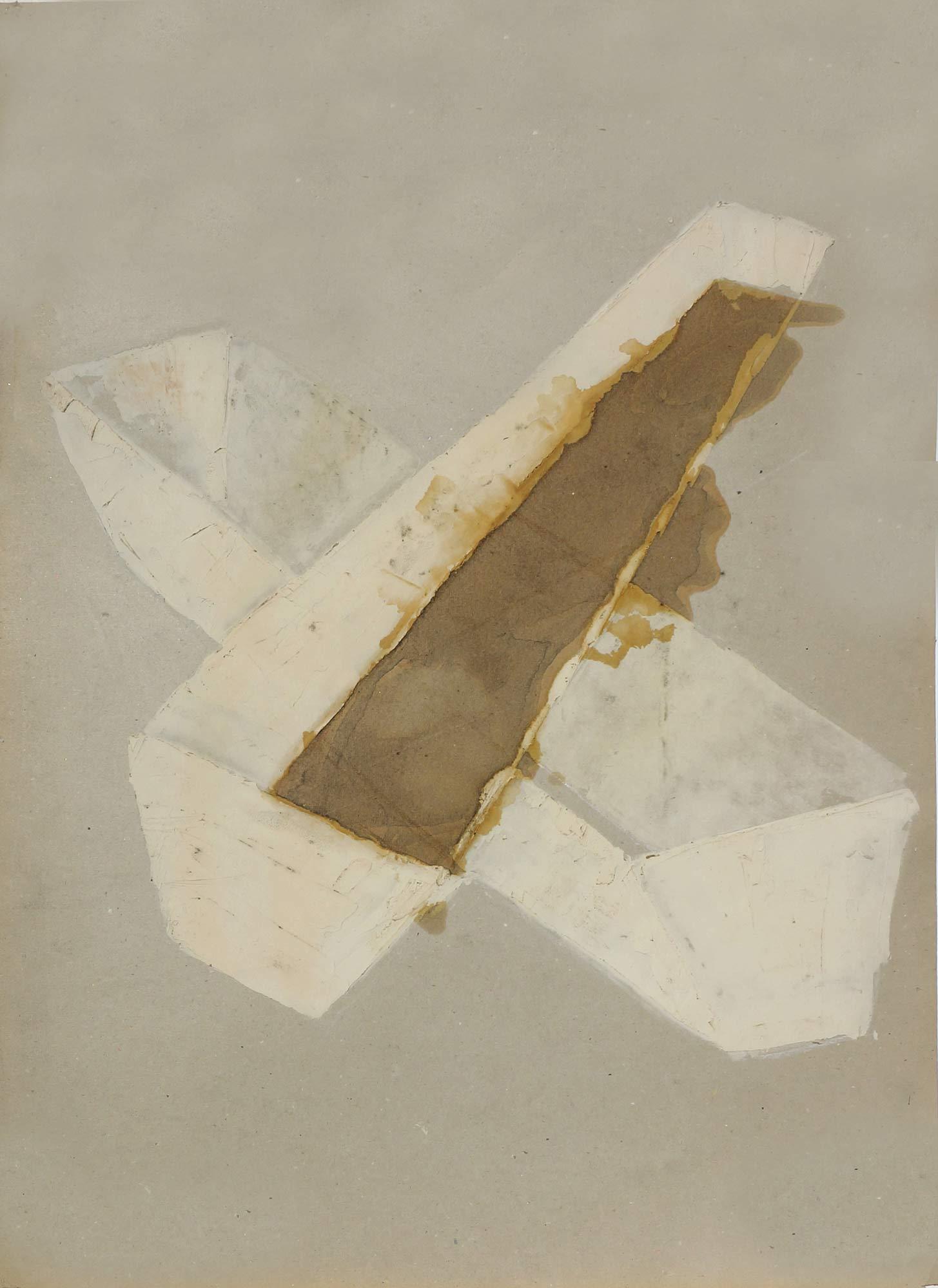 Bac  - 1988 – Encre, enduit, 80 x 60 x cm. Denis Falgoux