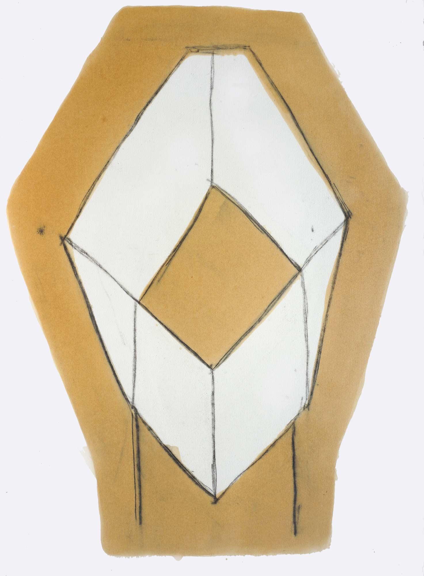 Bac  - 1988 – Encre, gomme laque, 60 x 50 x cm. Denis Falgoux