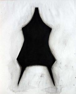 Maillot -1993- Encre pigment 65 x 50 cm. Denis Falgoux