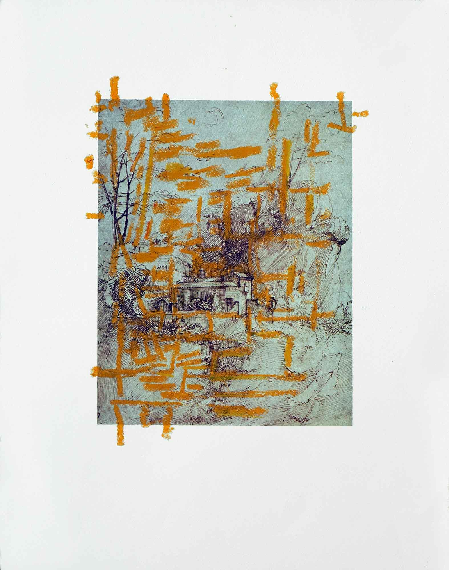 Dessin sur dessin - 2013 – Pastel gras. 50 x 40 cm. Denis Falgoux