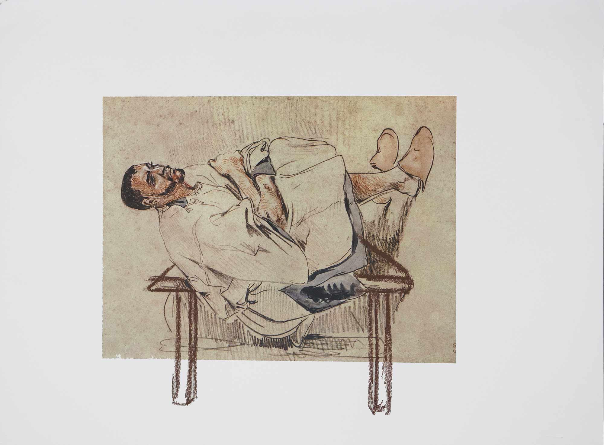 Dessin sur dessin - 2013 – Sanguine. 50 x 40 cm. Denis Falgoux