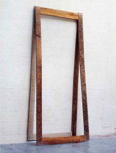 Sculpture bandée - 1998 – Bois, tarlatane. 200x170x20 cm. Denis Falgoux