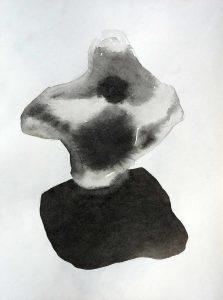 Sombre sel - 2017 – Encre sur photo. 50 x 40 cm. Denis Falgoux